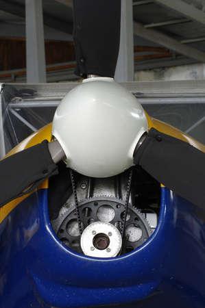 propeller detail of sporting aircraft