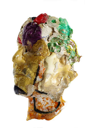 head art plastic sculpture objects isolated