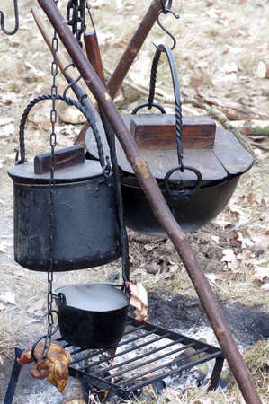 pots of old fireplace