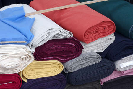 rolls wool fabric Reklamní fotografie