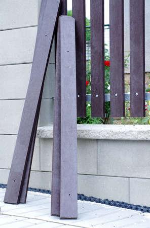 new fence building plastic planks