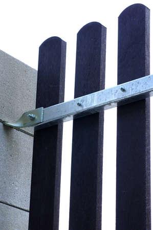 new fence building plastic planks detail Reklamní fotografie