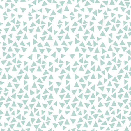 Modern simple seamless pattern of geometric objects. Blue triangles on a white background.  イラスト・ベクター素材