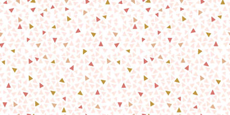 Modern simple seamless pattern of geometric objects. Modern coloring on a white background.