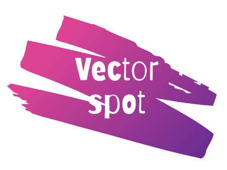 Vector spot illustration. Bright neon gradient. Suitable for background. Isolated on white.  イラスト・ベクター素材