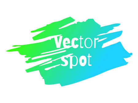 Vector spot illustration. Bright neon gradient. Suitable for background.  イラスト・ベクター素材