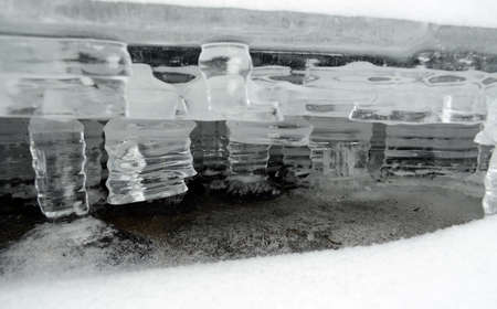 solid state: The ice - water in the solid state