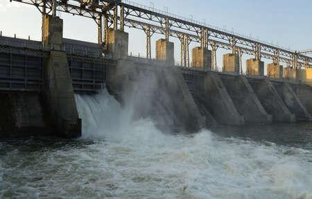 waterbesparing: Waterkrachtcentrale Stockfoto