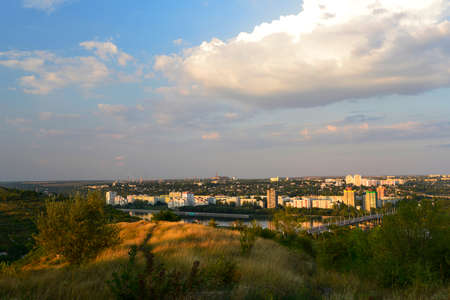 Rybnitsa city in Transnistria, on the left bank of the Dniester River Stock Photo