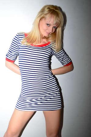 The erotic photo shoot of a beautiful girl.
