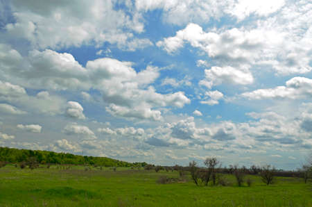 Spring landscapes in the countryside. City Novomoskovsk Ukraine. Imagens