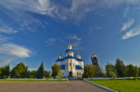 The Holy Protection Church in the village of Orlovshchina is a legendary pearl of an old village, inside which there are holy relics. She went through difficult times of destruction by the Bolsheviks, Stock fotó