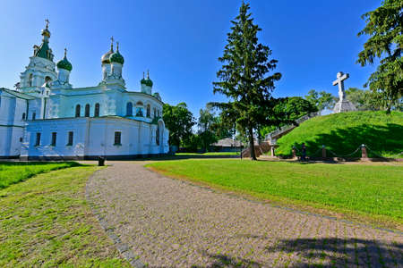 The Temple of Sampson the Stranger was founded in 1852 in honor of the victory of the Russian army over the Swedes in 1709.