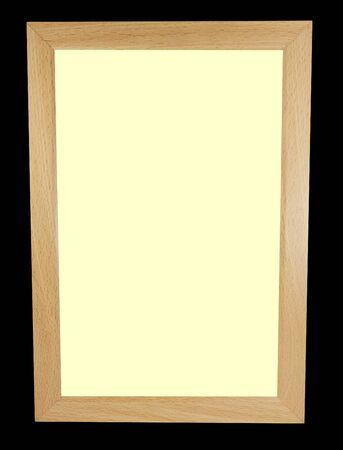 Pale background inside a wooden picture frame with black trim Stok Fotoğraf