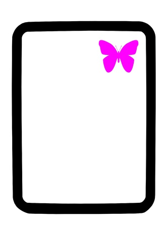 Purple Butterfly on white dry erase  background board