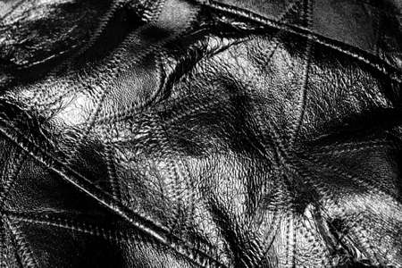 Black leather close up textured background Stock Photo - 12331568