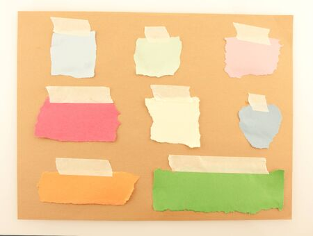 Background of colored papers attached with tape