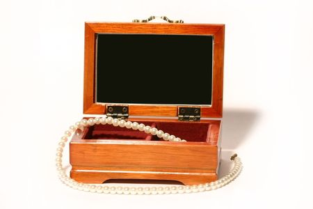 Casket with a beads photo