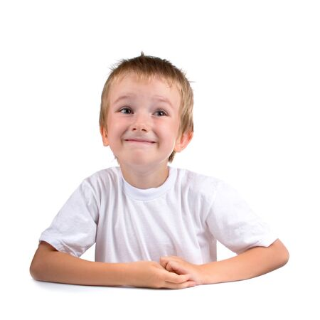 Funny boy, isolated on a white background