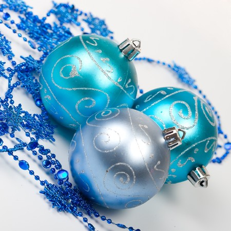 Christmas balls isolated on a white background  photo