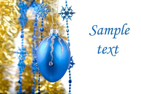 Christmas ornaments isolated on white background Stock Photo - 8184743