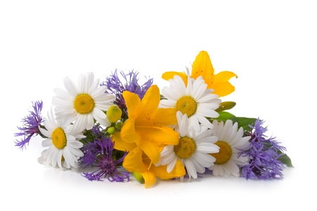 Beautiful bouquet isolated  on a white background