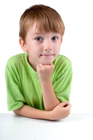 Boy isolated on a white background