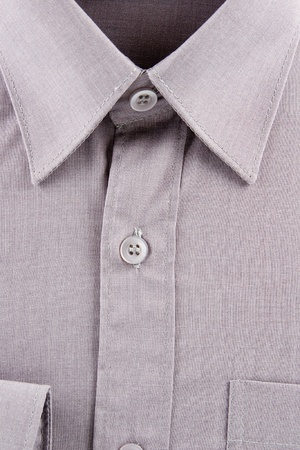 un used: New gray business shirt  Stock Photo