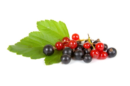 Fresh berries isolated on a white background