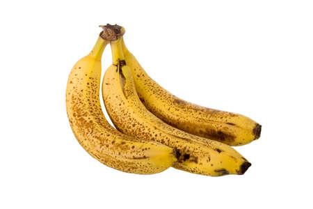 overripe: Over-ripe bananas on a white background