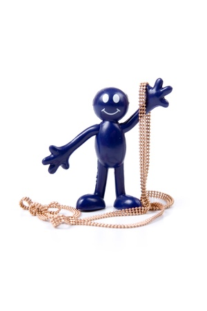 Figure of smilie with jewelry. The concept of luxury and wealth photo