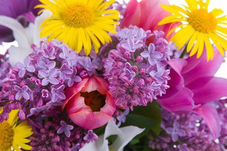Spring bouquet close up photo