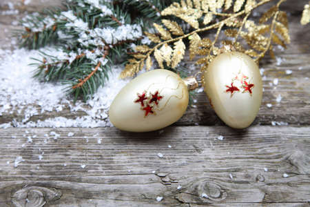 Christmas decorations on a wooden background Stock Photo - 15724691