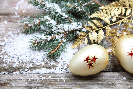 Christmas decorations on a wooden background Stock Photo - 15724656