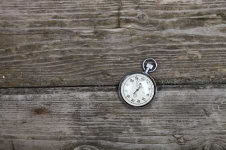 Stopwatch on a wooden table