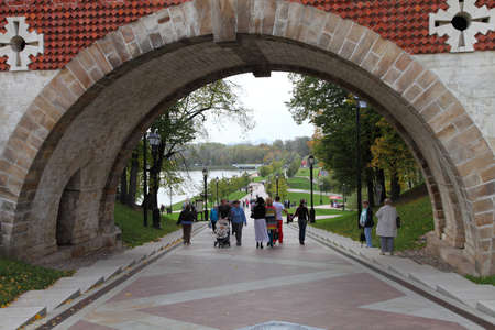 MOSCOW, RUSSIA - SEPTEMBR 21:  Tsaritsyno museum September 17, 2012 in Moscow, Russia.The historical bridge in Tsaritsyno museum and reserve, Moscow , Russia