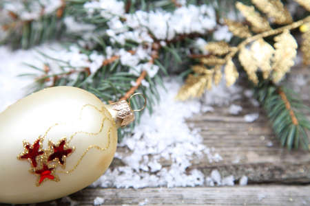 Christmas decorations on a wooden background Stock Photo - 15843521
