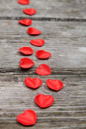 Valentines Day background with hearts.  Stock Photo - 16920599