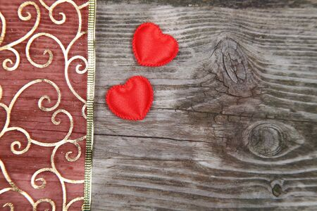 Valentines Day background with hearts.  Stock Photo - 16920642