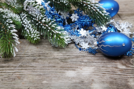 Christmas still life on a wooden background Stock Photo - 16920632