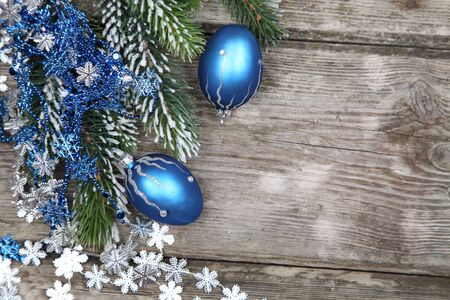 Christmas still life on a wooden background Stock Photo - 16920629