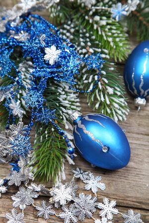 Christmas still life on a wooden background Stock Photo - 16920640