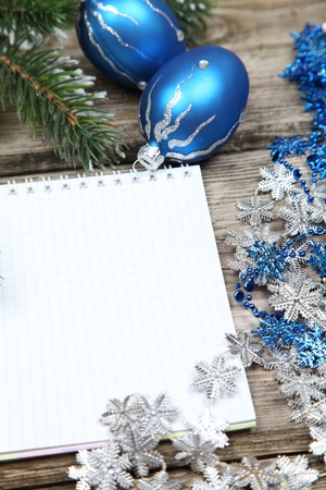Christmas still life on a wooden background Stock Photo - 16920598