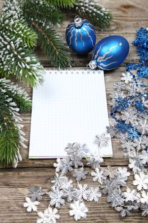 Christmas still life on a wooden background Stock Photo - 16920622