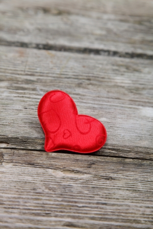 Red heart on a wooden background. Valentines Day. Stock Photo - 16920604