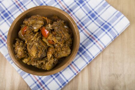 widespread: Chakhokhbili - stew bird, widespread in the Caucasus. Chakhokhbili - recipe of Georgian cuisine Stock Photo