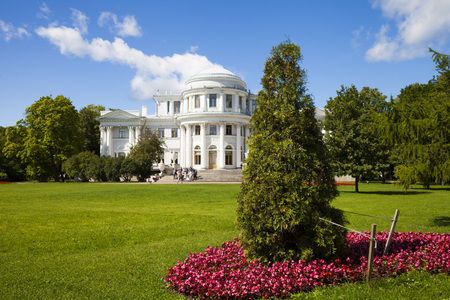 St.Petersburg, Russia. Yelagin Palace in a summer sunny day.