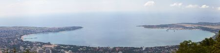 High view on a Gelendzhik bay. Black Sea. Russia.Panorama.