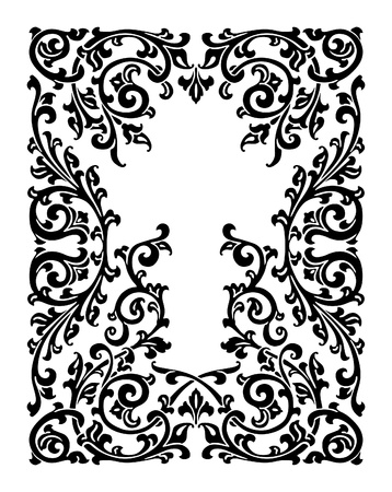 baroque ornament: abstract floral ornament, seamless wallpaper, vector background