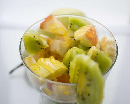 fruid salad with honey